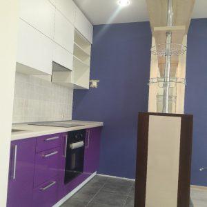 Кухня линейная с барной стойкой КЗ-14
