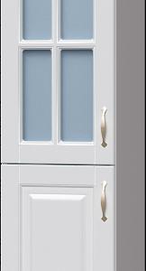 Пенал 2 двери с фигурной витриной